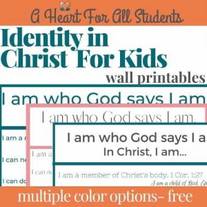 identity in christ for kids wall art printables