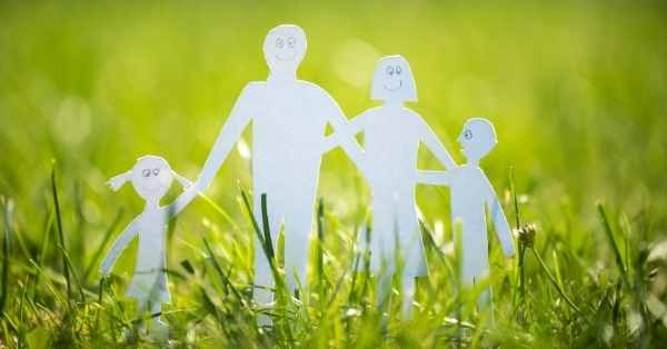 family paperdolls in grass