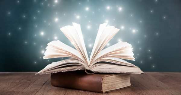 open book twinkling lights
