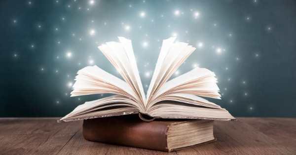 open book twinkling lights