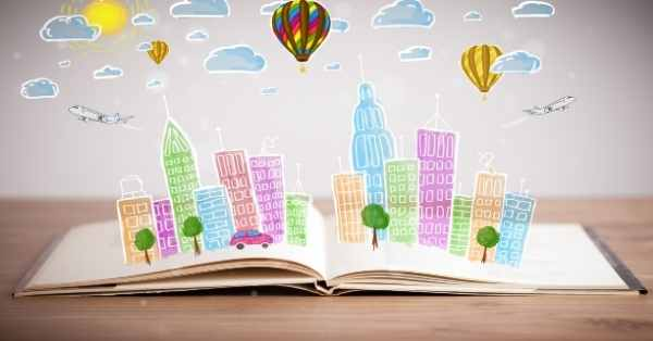 book paper city hot air balloon city