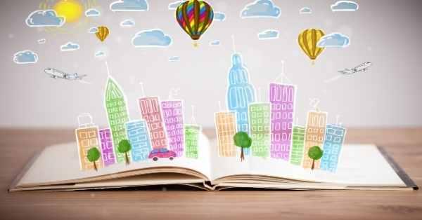 book paper city hot air balloon city