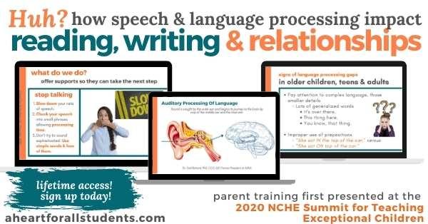 homeschool parent literacy training